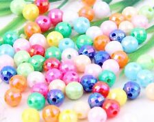 200/400Pcs Mixed Acrylic Loose Round Ball Spacer Beads Charms 6mm