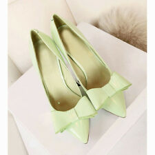 US5-10 Vogue Pointed-toe Shallow Mouth Bowknot Womens Pumps Shoes  [HA]