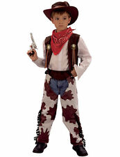 Child Wild West Rodeo Cowboy Sheriff Kids Fancy Dress Costume + Hat