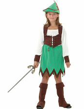 Child Robin Hood Girls Medieval Fancy Dress Kids Book Day Week Costume