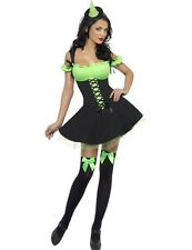Adult Ladies Sexy Green Wicked Witch Halloween Fancy Dress Outfit Costume