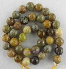 Natural Round Faceted Multicolour Agate Loose Beads 15''