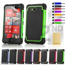 NEW STYLISH SHOCK PROOF SERIES CASE COVER FOR Nokia Lumia 820 SCREEN PROTECTOR