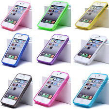 Crystal TPU Soft Silicone Rubber Gel Back Case Cover For Apple iPhone 4 4S 4g