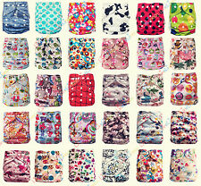 Baby Washable Reusable Real Cloth Pocket Nappy Cover Wrap 3 layers nappy inserts