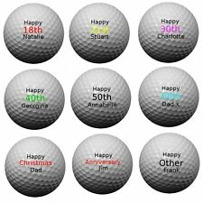 Personalised Golf Balls - Pack Of 3 Balls