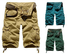 New Fashion Mens Cotton Hobo Relaxed Fit Cargo Shorts Summer Pants Modern Style