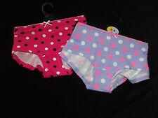 2 PAIRS NEW LADIES Ex-M & S COTTON MIX BOYSHORTS KNICKERS BOXERS PANTS SZ 6 - 20