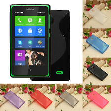 S-Line TPU Clear Silicone Gel Soft Case Back Cover For Nokia X Normandy A110