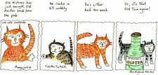 Blank greeting card Cats Old Tom cartoon Louisa's Ginger Nuts Peter Brighouse