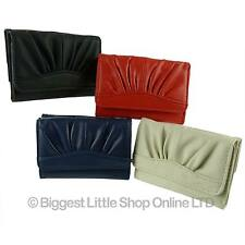 NEW Faux Leather PU Girls Teens Compact Trifold Purse/Wallet Handy Vegan Gift ★