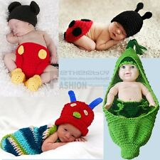 Infant Baby Boy Girl Infant Crochet Knit Costume Photo Photography Prop Outfit