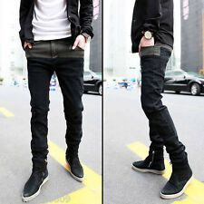 Hot Mens Jeans Skinny Straight Fit Pencil Pants Feet Trousers Fashion Korean