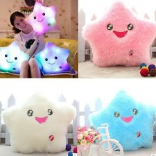 7 Colors Change Light Smile Star Toss Pillow Cushion Light Thrown Changing