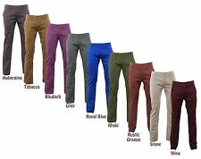 Mens Kushiro Chino Trousers / Jeans Cotton Pants - Straight Leg