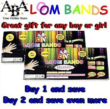 Loom & Rainbow Coloured Bands Kit, buy 1 or 2, loom, hook, clips, 600 bands