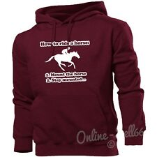 How To Ride A Horse Hoodie Women Men Kid Riding Clothing Jumper Equestrian Girls