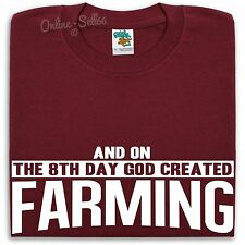 On The 8th Day God Created Farming T Shirt Men Women Farm Farmer Gift Present