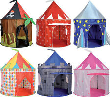 CHILDRENS POP UP  PLAY TENTS, INDOOR OUTDOOR USE - 6 DESIGNS TO CHOOSE!