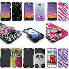 For LG Optimus L70 MS323 Dual D325 Bling Diamond Rhinestone Hard Case Cover