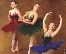 NWOT Gilded Ballet Costume gold Petite Adult attached 5 tier tutu 3 colors