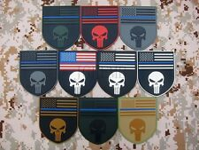 The thin blue line Devgru SealTeam Punisher american flag 3D PVC Velcro Patch