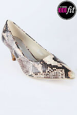 Yoursclothing Womens Plus Size Snake Print Pointed Toe Court Shoe