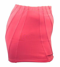 ASOS peach scuba stretchy mini skirt with stitched detail size