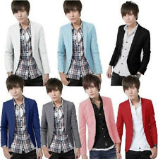New Hot Sale Mens Slim Casual Fit One Button Pop Suit Blazer Jacket Top 7 Colors