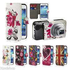 NEW PU LEATHER WALLET CASE COVER FOR SAMSUNG GALAXY S4 Zoom SCREEN PROTECTOR
