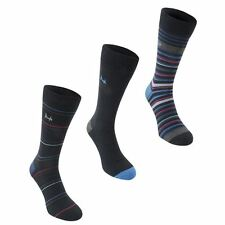 Pringle Mens Comfortable Stripe Sock Clothing Accessory 3 Pack Brand New