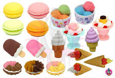TY IWAKO JAPANESE NOVELTY COLLECTABLE ICE CREAM RUBBER ERASERS PARTY BAG GIFT