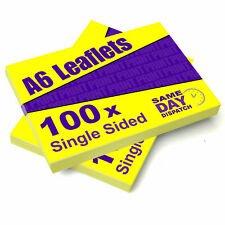 100, 200, 300, 400, 500 x A6 Leaflets/Flyers 130gsm Gloss Paper Full Colour