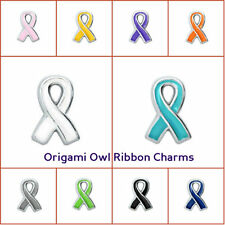 New Origami Owl Ribbon Charms Multi Cancer Awareness Fit Charm Living Lockets