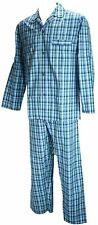 Ex Store Mens Square Check Cotton Traditional Pyjamas PJ Set