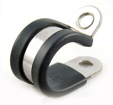 Stainless Steel Marine Grade 316ss P Clip Hose Pipe Clamp Clip EPDM Rubber Lined