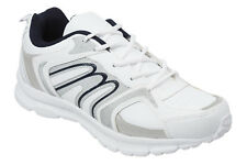 Mens White & Navy Classic Trainers Size 6 to 12 UK By MIG SPORTS & LEISURE - 006