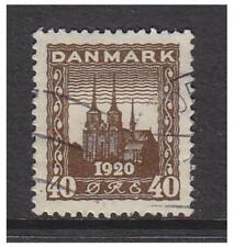 Denmark - 1920, 40ore Brown Cathedral stamp - Used - SG 211