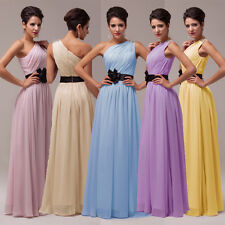 Long Chiffon Bridesmaid Prom Evening Party Cocktail Ball Gown Dresses Size 8 10+