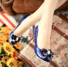 fashion women sweet summer bowknot pump high heel patent leather shoes X922