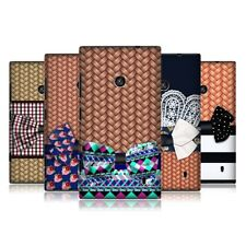 HEAD CASE CHIC WICKER HATS SNAP-ON BACK COVER FOR NOKIA LUMIA 520