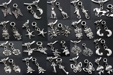Bird Butterfly Flower Tibetan Silver Charms Beads Fit Bracelet European gh1113
