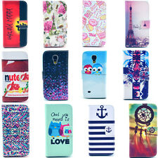 cute flowers LEATHER WALLET CASE COVER For iPhone 4 5 Samsung Galaxy S4 MINI HTC