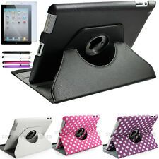 360 Rotating Magnetic PU Leather Stand Case Smart Cover For Apple iPad 4 4th 3 2