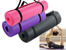 BN YOGA MAT 15MM THICK EXERCISE FITNESS PHYSIO PILATES GYM MATS NON SLIP CARRIER