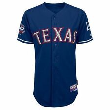 2012 Texas Rangers 40th Anniv. Authentic Cool Base Alternate Blue Jersey (40-52)