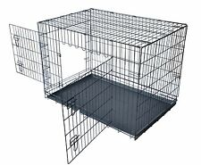 "24""/30""/36""/42""/48"" Wire Folding Pet Crate Dog Cage LC"