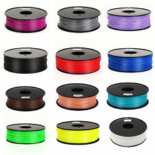 NEW 3D Printer Filament 1.75mm 3mm ABS/PLA for Print RepRap MarkerBot 1kg/2.2lb