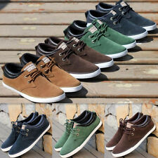 Men's Suede Sneakers Lace-ups Driving Moccasin Skate Shoes loafers MS697