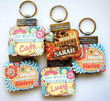 PERSONALISED PERSONALITY KEYRING BOOK GIRLS NAMES INITIALS J-R GIRLIE GIFT NEW